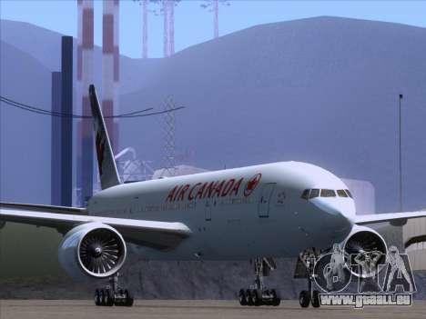 Boeing 777-200ER Air Canada für GTA San Andreas linke Ansicht