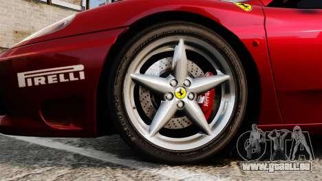 Ferrari 360 Spider 2000 [EPM] pour GTA 4 Vue arrière