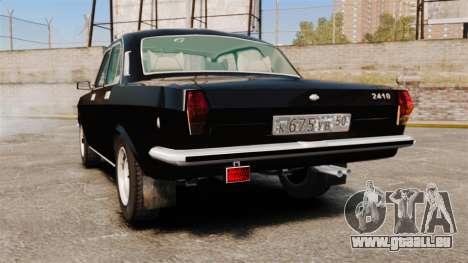 Volga gaz-2410 v1 pour GTA 4 Vue arrière de la gauche