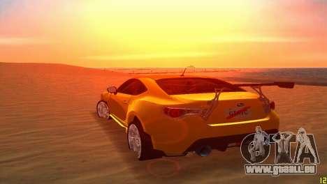 Subaru BRZ Type 5 pour GTA Vice City vue latérale