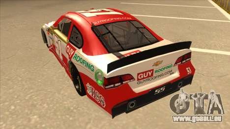 Chevrolet SS NASCAR No. 51 Guy Roofing für GTA San Andreas Rückansicht