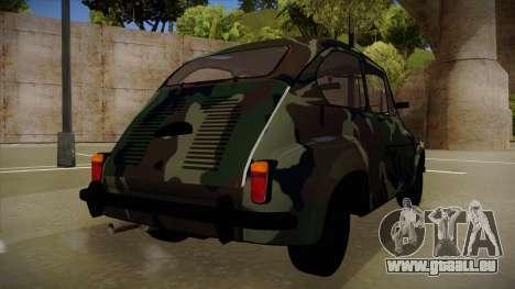 Zastava 750 Camo pour GTA San Andreas vue arrière