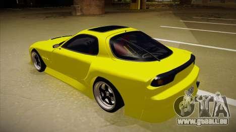 Mazda FD3S BN Sports pour GTA San Andreas vue arrière