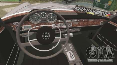 Mercedes-Benz 300 SEL 1971 pour GTA 4 est une vue de l'intérieur
