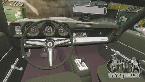 Oldsmobile Cutlass Hurst 442 1969 v1 für GTA 4 Innenansicht