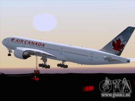 Boeing 777-200ER Air Canada für GTA San Andreas Seitenansicht