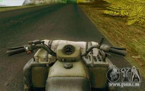 VTT de la Medal of Honor pour GTA San Andreas sur la vue arrière gauche