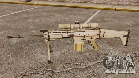 Fusil automatique Mk 17 SCAR-H pour GTA 4 troisième écran