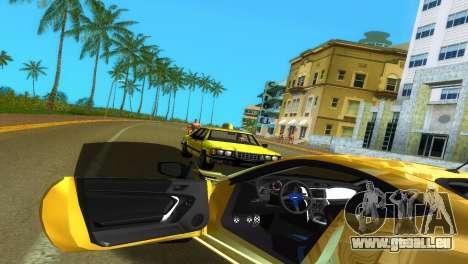 Subaru BRZ Type 5 pour une vue GTA Vice City d'en haut
