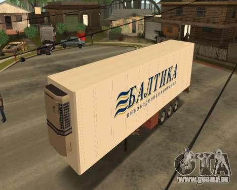 Reefer Baltique pour GTA San Andreas laissé vue