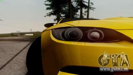 BMW M3 E92 Hamann für GTA San Andreas Innenansicht