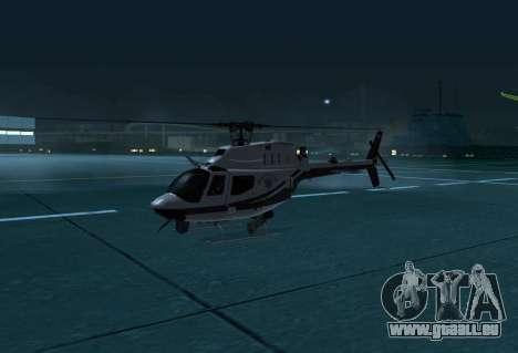 OH-58 Kiowa Police für GTA San Andreas linke Ansicht