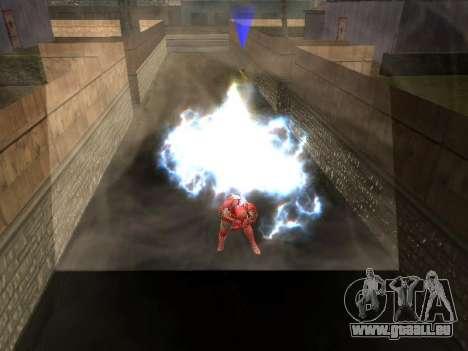 Impact de l'homme de fer sur la terre pour GTA San Andreas quatrième écran