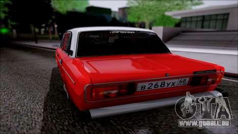VAZ 2106 Retro pour GTA San Andreas sur la vue arrière gauche