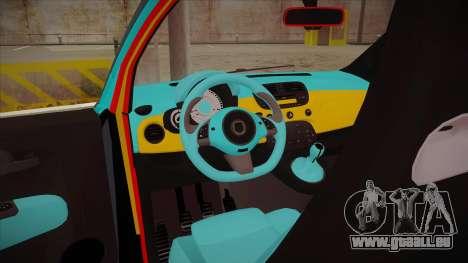 Abarth 500 Esseesse 2010 für GTA San Andreas Innenansicht