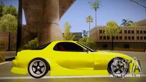 Mazda FD3S BN Sports pour GTA San Andreas sur la vue arrière gauche