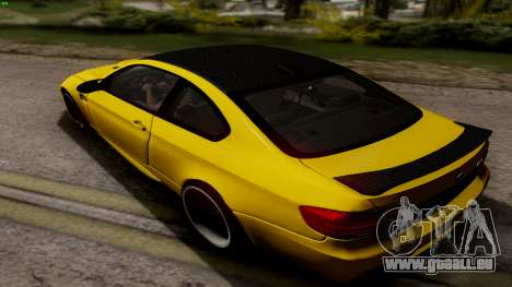 BMW M3 E92 Hamann für GTA San Andreas zurück linke Ansicht