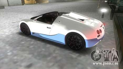 Bugatti Veyron Grand Sport Vitesse pour une vue GTA Vice City de la gauche