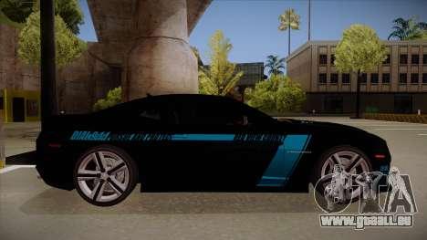 Chevrolet Camaro ZL1 2012 RCPD V1.0 für GTA San Andreas zurück linke Ansicht