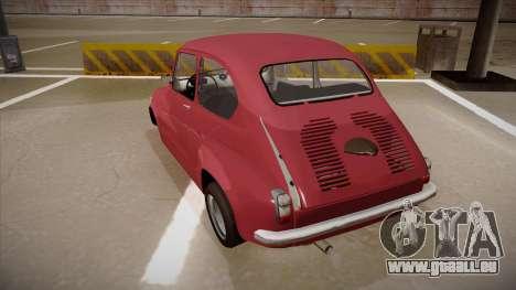 Zastava 750 pour GTA San Andreas vue arrière