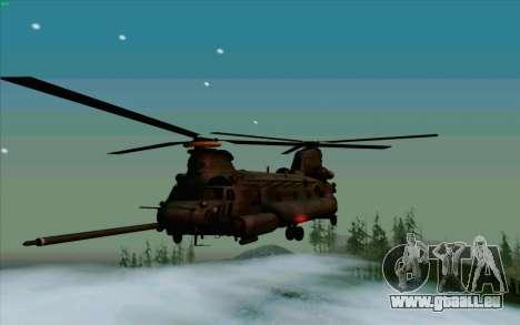 MH-47 für GTA San Andreas zurück linke Ansicht