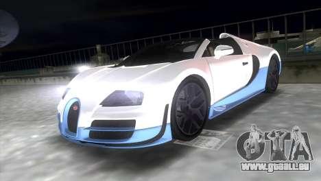 Bugatti Veyron Grand Sport Vitesse pour une vue GTA Vice City de la droite