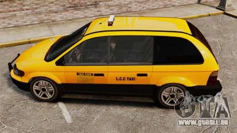 Taxifahrer mit neuen Festplatten für GTA 4 hinten links Ansicht