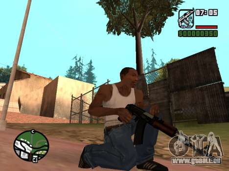 Crosse AK-74 pour GTA San Andreas troisième écran