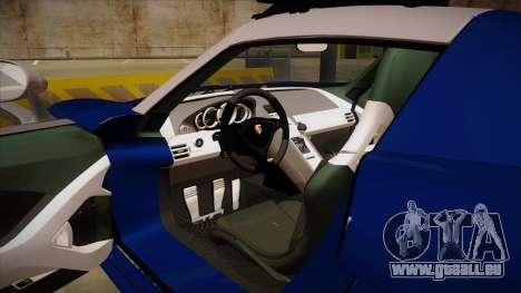 Porsche Carrera GT 2004 Police Blue pour GTA San Andreas vue intérieure