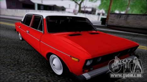 VAZ 2106 Retro pour GTA San Andreas vue intérieure