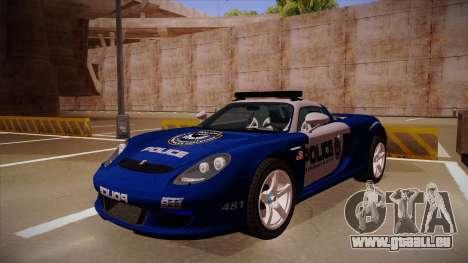 Porsche Carrera GT 2004 Police Blue pour GTA San Andreas