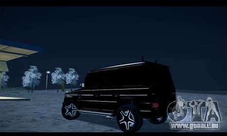 Mercedes-Benz G500 Gelandewagen pour GTA San Andreas laissé vue