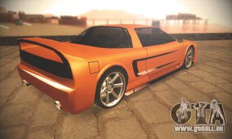 Infernus One pour GTA San Andreas vue arrière