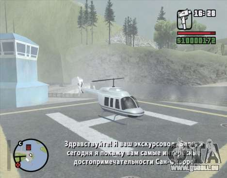 Tour en hélicoptère de San Fierro pour GTA San Andreas troisième écran