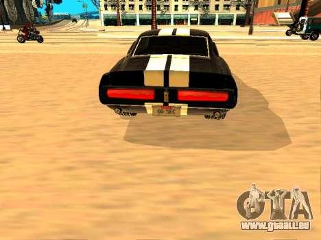 Ford Shelby GT-500E Eleanor pour GTA San Andreas vue de droite