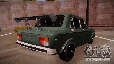 Zastava 128 Turbo pour GTA San Andreas sur la vue arrière gauche