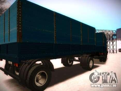 Trailer Kamaz 5320 pour GTA San Andreas laissé vue