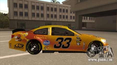Chevrolet SS NASCAR No. 33 Cheerios pour GTA San Andreas sur la vue arrière gauche