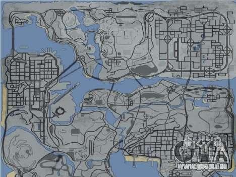 Landkarte im Stile von GTA 5 für GTA San Andreas