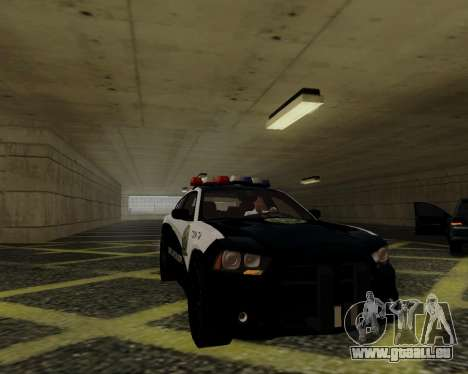 Dodge Charger 2012 Police IVF für GTA San Andreas Innenansicht