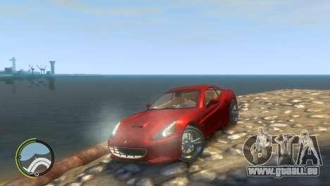 Ferrari California [EPM] pour GTA 4 est une vue de l'intérieur