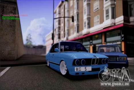 BMW 535I E28 pour GTA San Andreas vue de droite