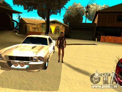 Ford Shelby GT-500E Eleanor pour GTA San Andreas moteur