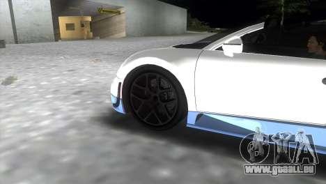 Bugatti Veyron Grand Sport Vitesse pour GTA Vice City sur la vue arrière gauche