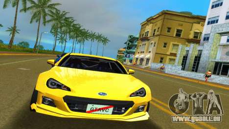 Subaru BRZ Type 5 pour une vue GTA Vice City de la gauche