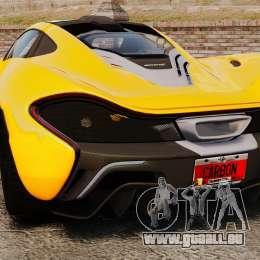McLaren P1 2013 für GTA 4 hinten links Ansicht