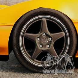 Chevrolet Corvette C4 1996 v1 für GTA 4 Rückansicht