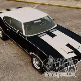 Oldsmobile Cutlass Hurst 442 1969 v1 pour GTA 4 vue de dessus
