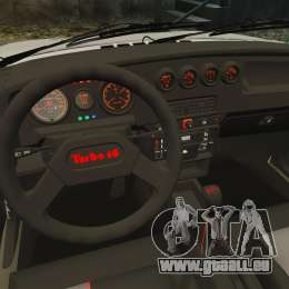 Peugeot 205 Turbo 16 pour GTA 4 est une vue de l'intérieur