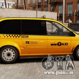 Dodge Grand Caravan 2005 Taxi NYC für GTA 4 linke Ansicht